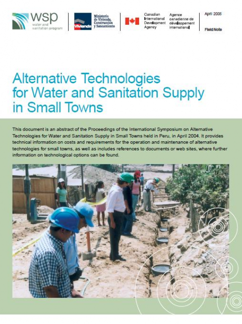 small towns water supply and sanitation Water supply in small communities by in most developing countries small towns and rural communities are not able international water and sanitation.