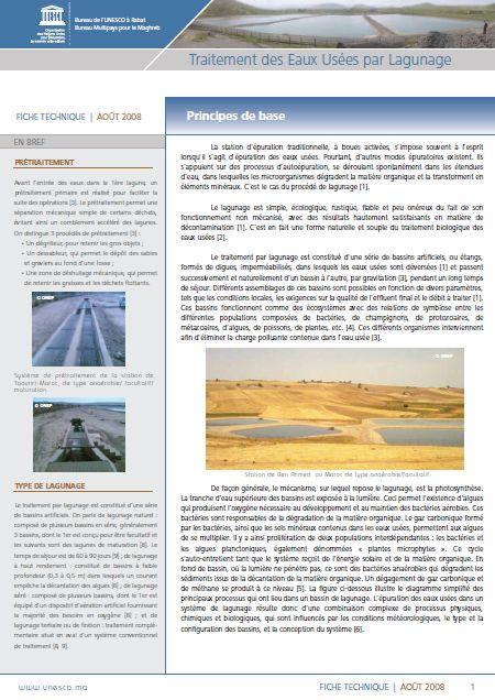 Traitement des eaux us es par lagunage in french - Lagunage des eaux usees ...