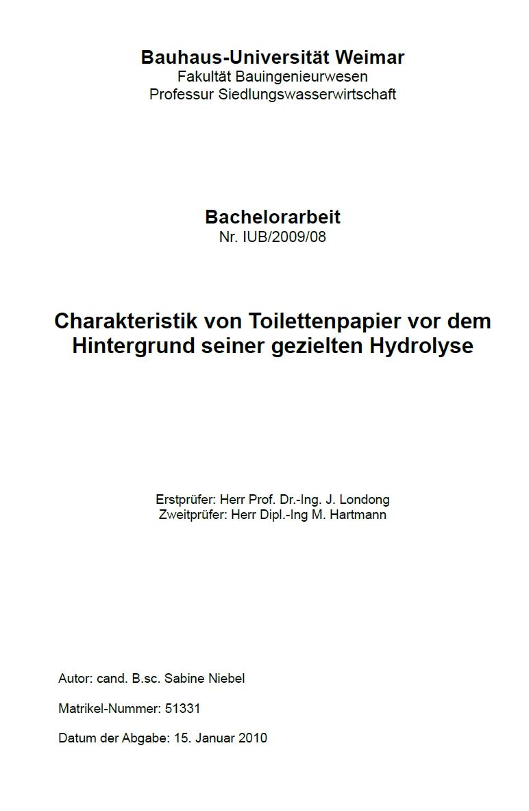 Civil engineering bachelor thesis