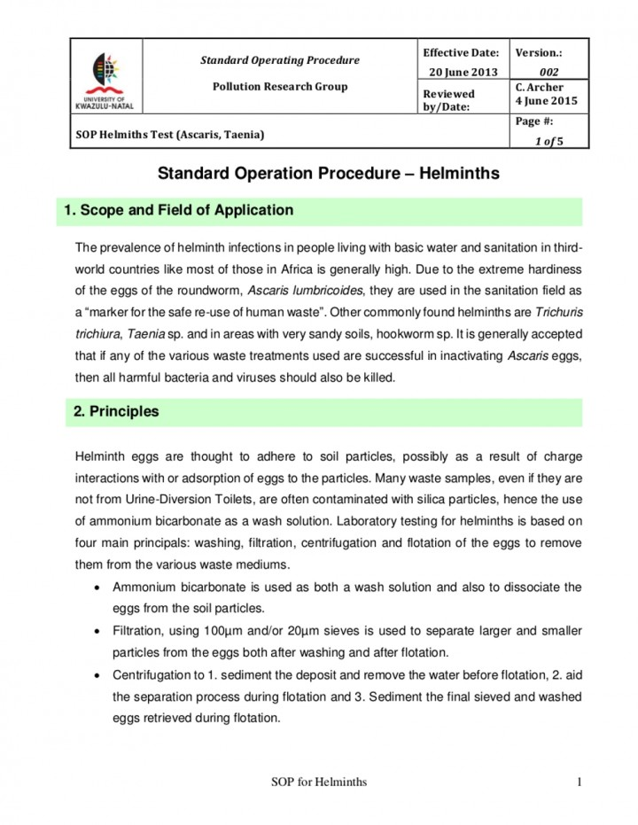 writing standard operating procedures template