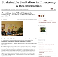 Sustainable Sanitation in Emergency &amp; Reconstruction