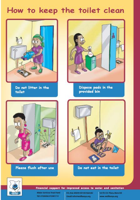 How to keep the toilet clean poster resources susana for How to keep a toilet clean