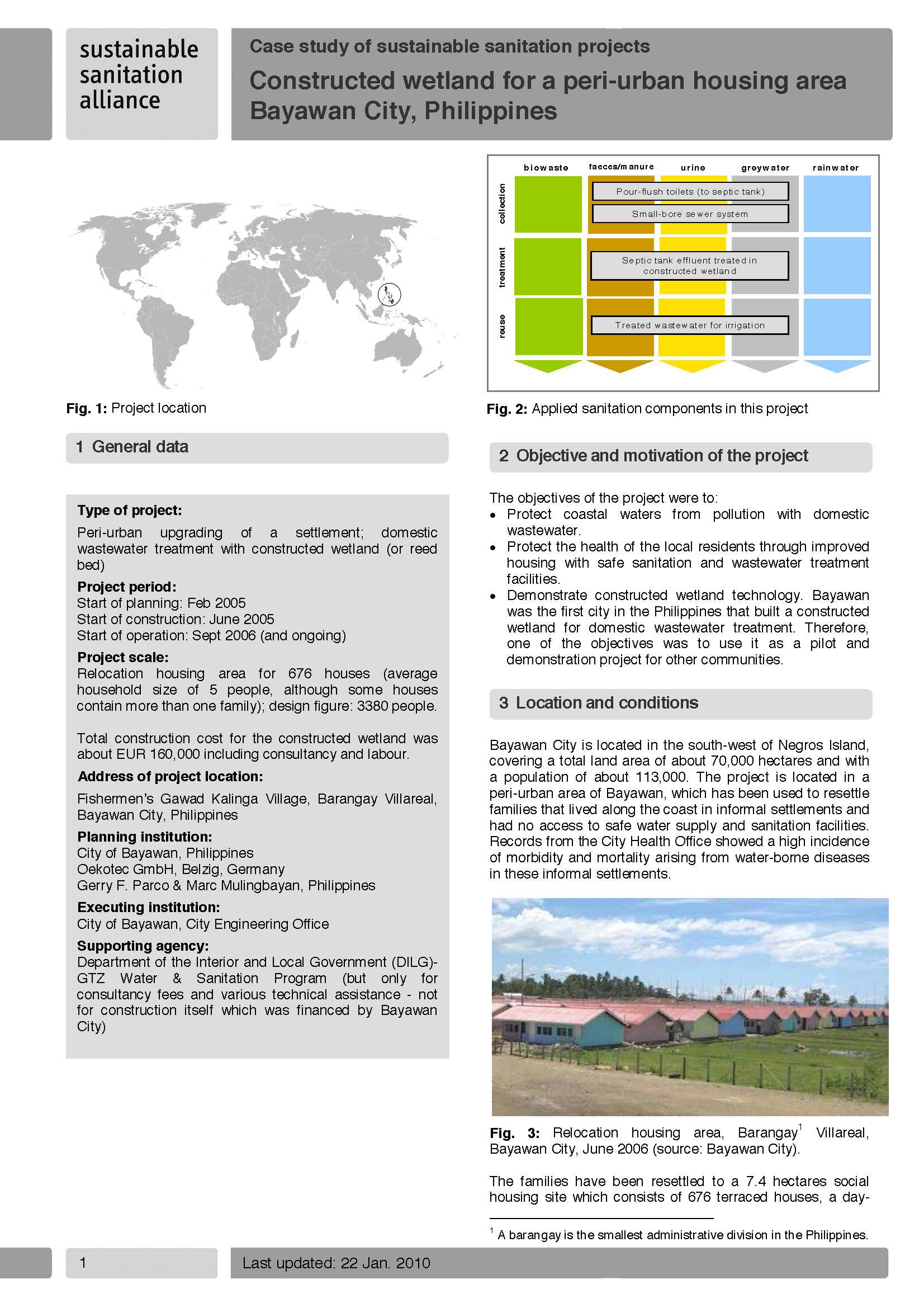 Constructed wetland for a peri-urban housing area Bayawan City, Philippines - Case studies
