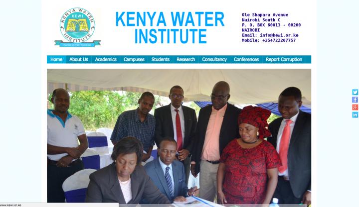 Kenya Water Institute Short Term Courses: Operation