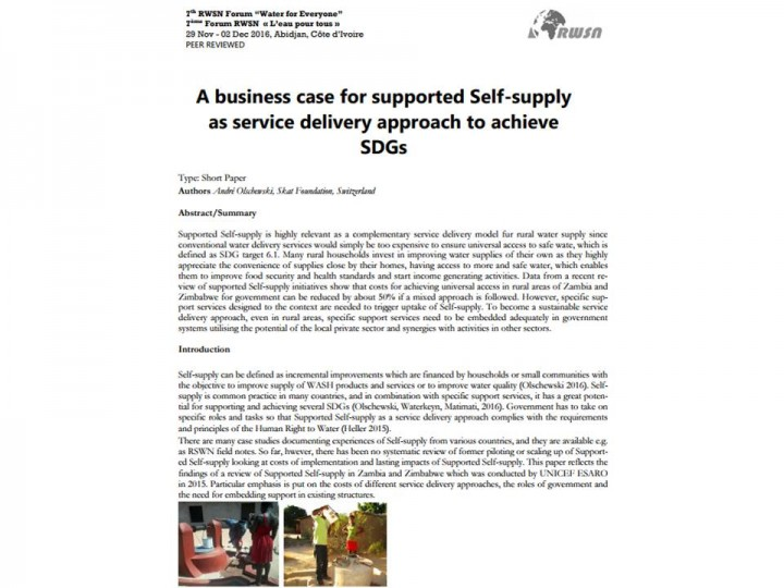 A business case for supported Self-supply as service