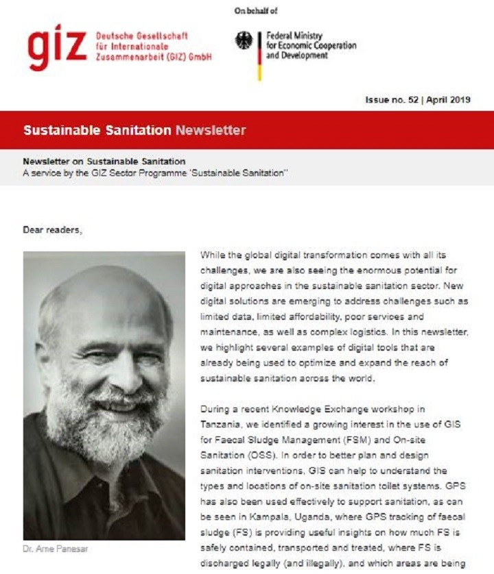Sustainable Sanitation Newsletter 2019 (English and French